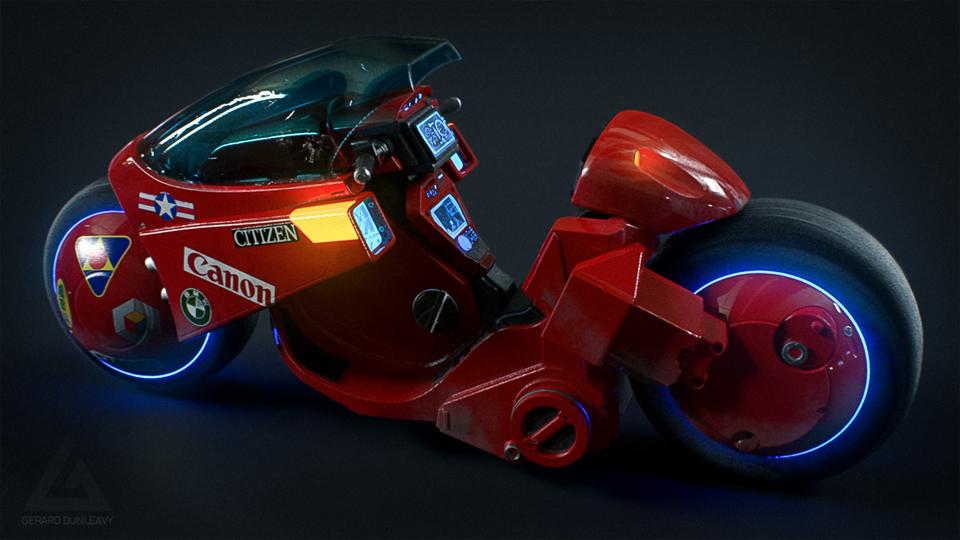 Akira Bike concept art